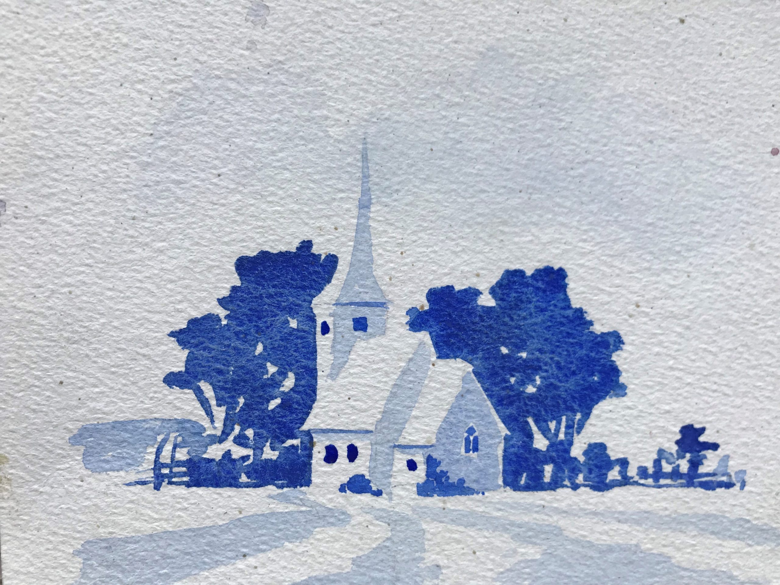 Example of watercolour painting